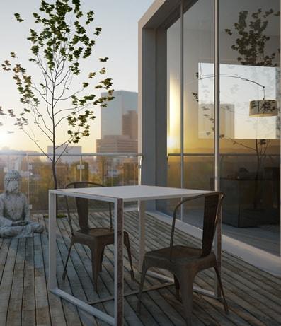 Tavolino con sedie su balcone Onion