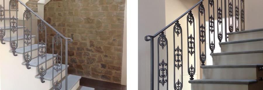 Ringhiere corrimano parapetti in ferro per scale interne - Corrimano scale interne ...