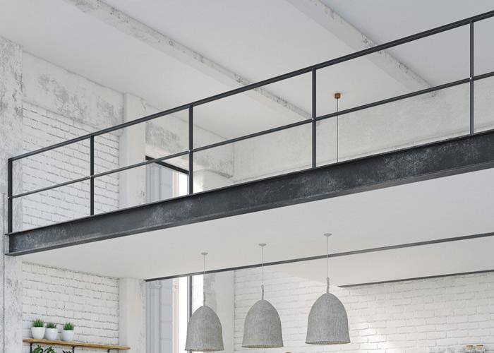 Soppalco in ferro per loft