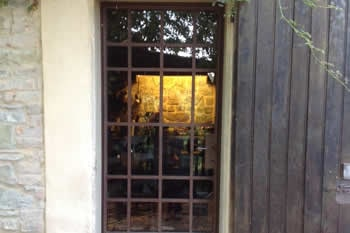 Vetrata in ferro esterna negozio